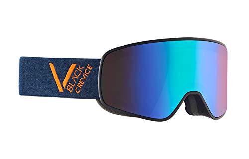 Black Crevice Unisexe - Masque de Ski Schladming, Navy/Orange/Green, Taille L (Tour de tête 58-61 cm)