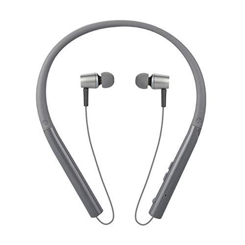 YYZLG Kabelloses Bluetooth-Headset Extrem Lange Standby-Sportarten Laufen Wasserdichter Schweißhals Hängender Hals Stereo-Kopfhörer für das hintere Ohr-Gray