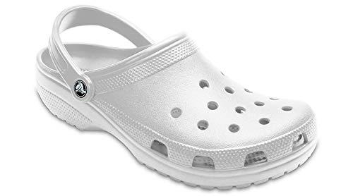 Crocs Men's and Women's Classic Clog, White, 8 Women / 6 Men