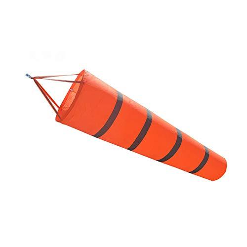 Toyvian Orange Manga de Viento para Exteriores Medida de Viento Calcetín Duradera Rip-Stop Engrosada Fluorescente Impermeable con Correa Reflectante Medida de Viento 1.5 M 1 pc