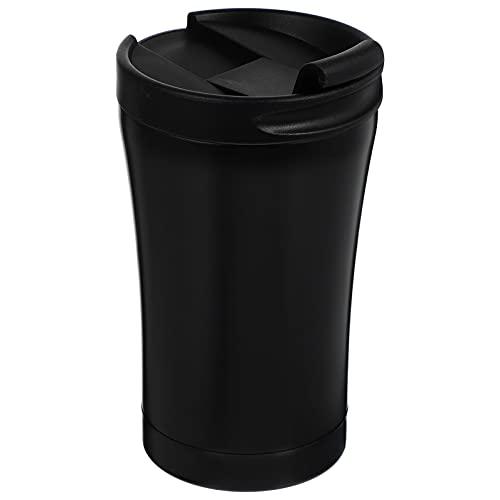 Toyvian Edelstahl Becher Vakuum Isolierte Kaffee Becher mit Deckel Schwarz Thermische Reise Tumbler Tasse Doppel Schicht Vakuum Tasse für Hause Büro Reise