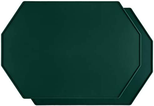 Lazy K Silicone Placemats Octagon with Raised Edges Non Slip Waterproof Silicone Mat Simple product image