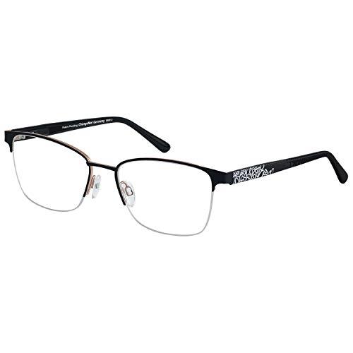 Change Me Brille rund 2616-1 mit Wechselbügel 8800-1 schwarz matt auf roségold