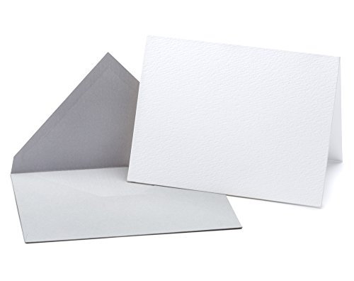 20 Blank Cards and Envelopes - Perfect Heavyweight Blank Cards for DIY Creative Projects, Invitations, Watercolor, Drawing, Writing - Opie's Paper Company