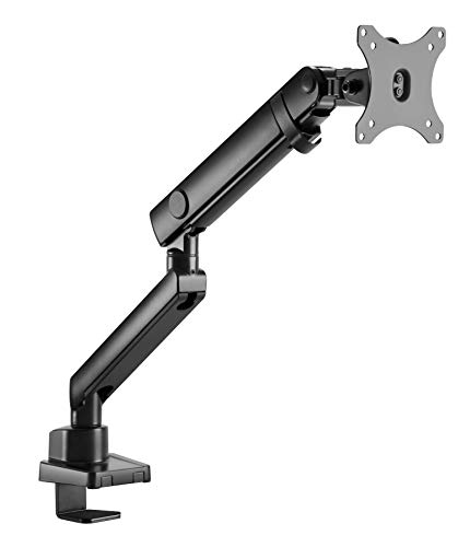 """Amer mounts   led lcd monitor arm   hydra lift articulating arm   clamp and grommet base   (single 17""""-32""""), black (hydra1b)"""