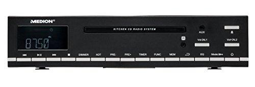 MEDION LIFE E66281 (MD 84627) CD-Unterbau UKW Küchenradio (CD-R/CD-RW, Audio-CD, AMS, AUX-Eingang, LC-Display, 64 Senderspeicher) schwarz