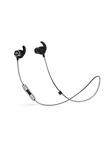 JBL Reflect Mini 2 Bluetooth Kopfhörer - Sport Headphones wasserabweisend - Wireless In Ear Kopfhörer kabellos - Bis zu 10 Stunden Akkulaufzeit Schwarz