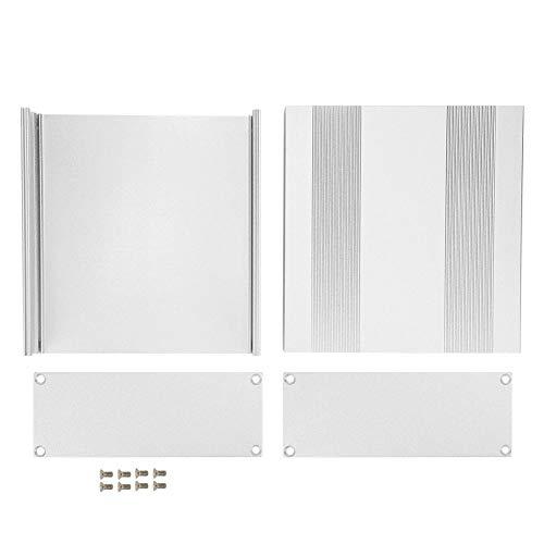 Aluminium-Projektbox - Aluminium-Projektbox Matt Silber Split Typ DIY Elektronische Gehäuseschale 54x145x150mm