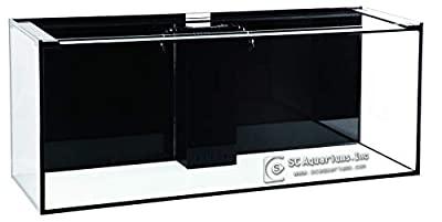 SC Aquariums 150 Gallon Starfire Glass Aquarium 60x24x24 12mm Eurobraced with Built-in Overflow Box