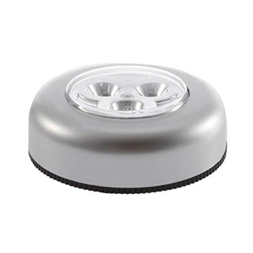 No requiere cableado Lámpara de noche con control táctil real 3 Leds Inalámbrico Stick Tap Armario Lámpara táctil Funciona con pilas