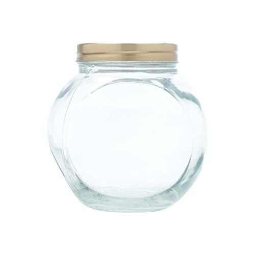 Pote Vidro Borossilicato Candle Glass Cobre/Transparente 15X10,5X15Cm