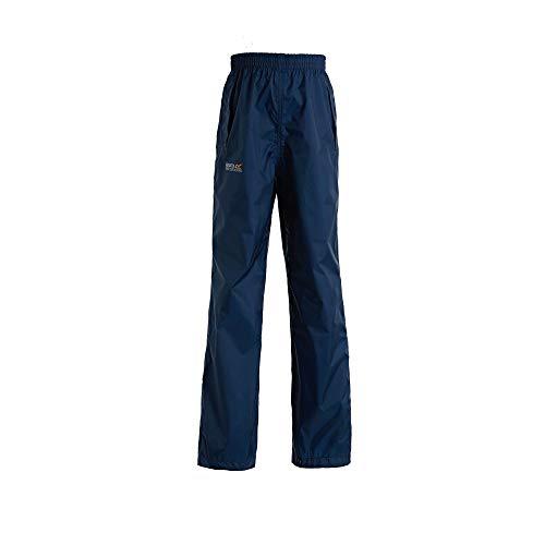 Regatta Pack It - sur-Pantalon imperméable - Enfant Unisexe (15-16 Ans) (Bleu Nuit)
