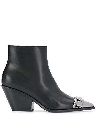Casadei Luxury Fashion Damen 1Q904N0601C00069000 Schwarz Leder Stiefeletten | Jahreszeit Outlet