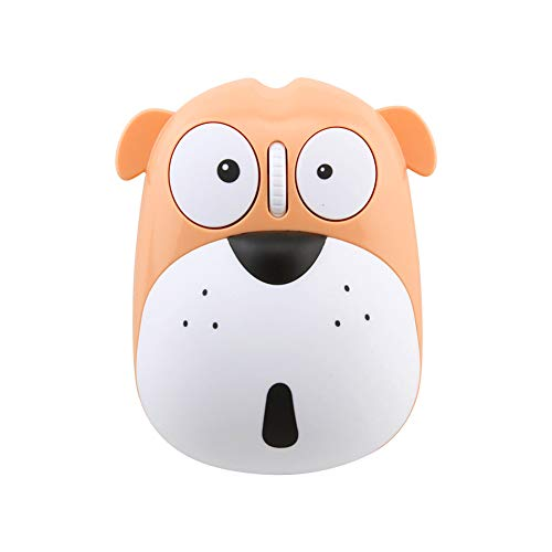 Cute Wireless Mouse, Cartoon Dog 2.4GHz Rechargeable Cordless Mouse with Nano USB Receiver Children Mice Kids Gaming Mouse for Notebook,Laptop,PC,Desktop (Yellow)