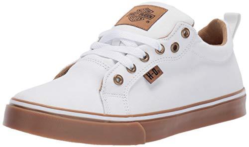 HARLEY-DAVIDSON FOOTWEAR Women's Torland Sneaker, White, 08.5 M US