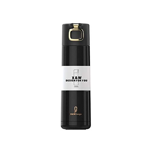 Explosionsgeschützter Becher aus Edelstahl mit großem Fassungsvermögen, Schwarz , 500 ml