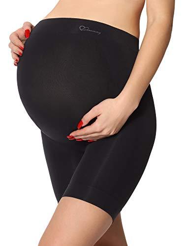 Be Mammy Pantaloni Premaman Corti 06 15 (Nero, XXL)
