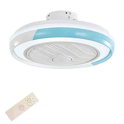 Ventilador de Techo para Interior de 20'Con Luz Led de 32 W,Luz de Techo Led Moderna Regulable,Montaje Empotrado con Control Remoto,3 Archivos,Velocidad Del Viento Ajustable Lámpara de Ventilador