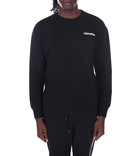 Converse - Tela de algodón color negro con respaldo de poliéster blanco...