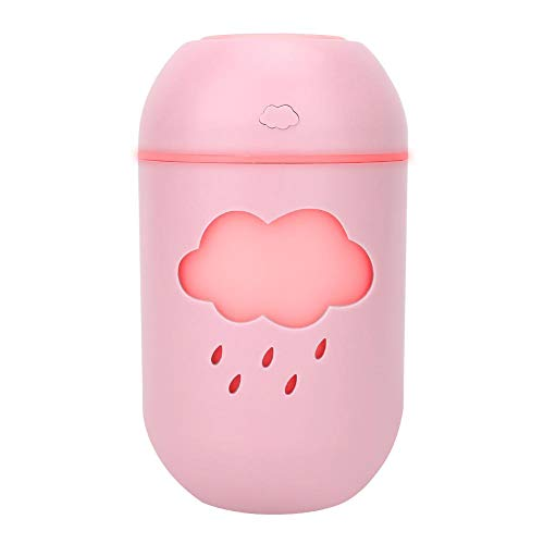 Garsent USB-luchtbevochtiger, draagbare luchtbevochtiger, 400 ml, met waterloze luchtbevochtiger met automatische uitschakeling voor thuis, yoga, kantoor, spa, babykamer., roze