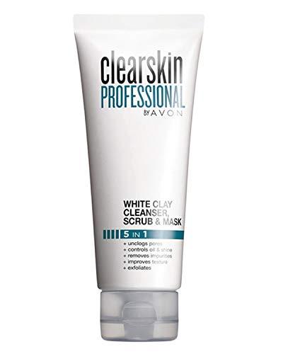 Avon Clearskin Professional 5 in 1 witte klei reiniger, scrub & masker