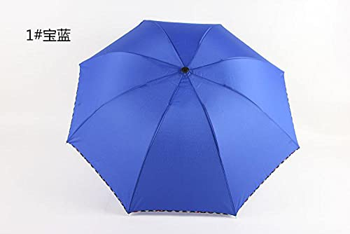 Roshow Sommersohle Sonnenschirme, Sommer Folding-Regenschirm-Werbung-Regenschirm, UV, Sonnencreme, Regenschirm, Sonnenregenschirm-Saphir_Radius: 55 cm * 8k