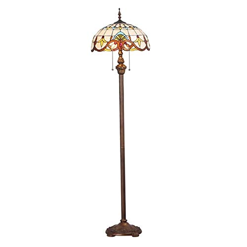 ACwhisper Lámpara de pie Tiffany barroco creativo color cálido cafetería salón dormitorio estudio lámpara de pie