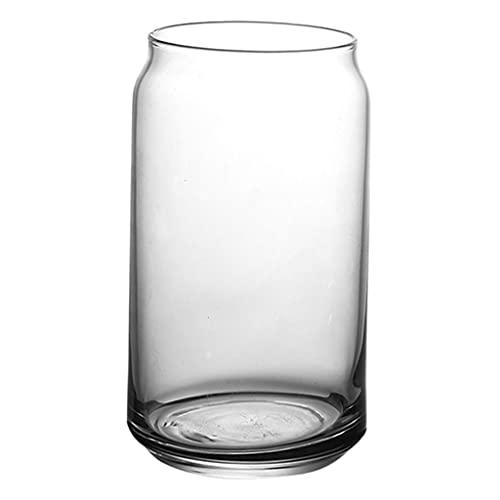 Amuzocity Taza de Café de Vidrio de Una Sola Capa, Vasos Transparentes de Embudo Alto para Café Helado, Café con Leche, Capuchino, Chocolate Caliente - Pequeño 390ml