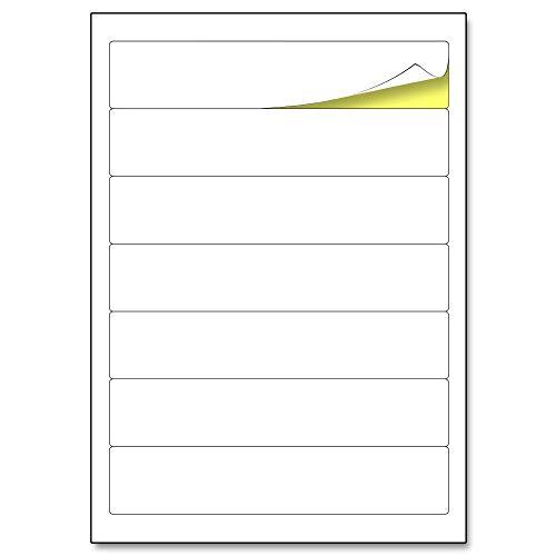 192 x 38 mm, Etiquetas Archivadores Adhesivas Blancas Carpetas A4-25 hojas