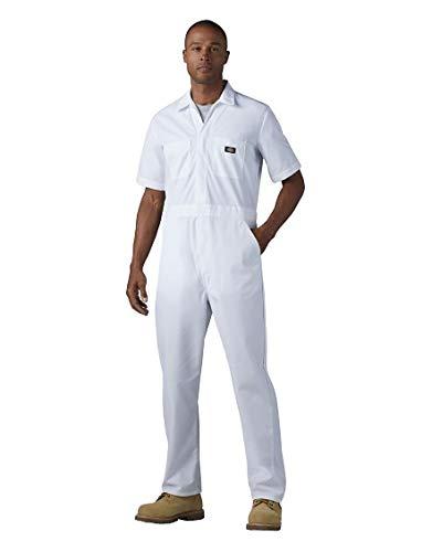 Dickies Herren Short-Sleeve Coverall Arbeitsanzug, weiß, Large Regulär