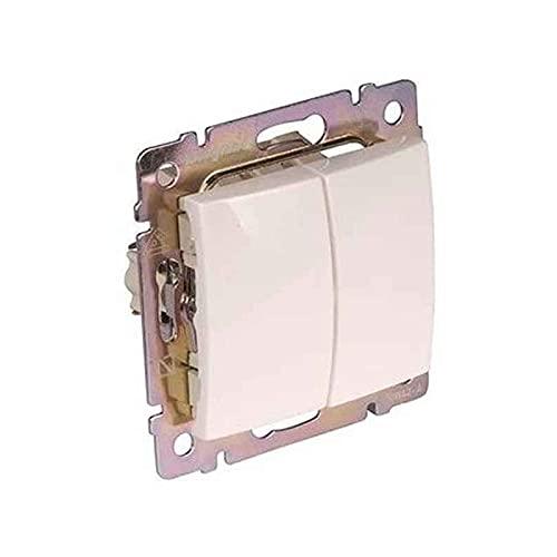Legrand - 774405 doble interruptor 10ax/250v blanco valena Ref. 6561010035