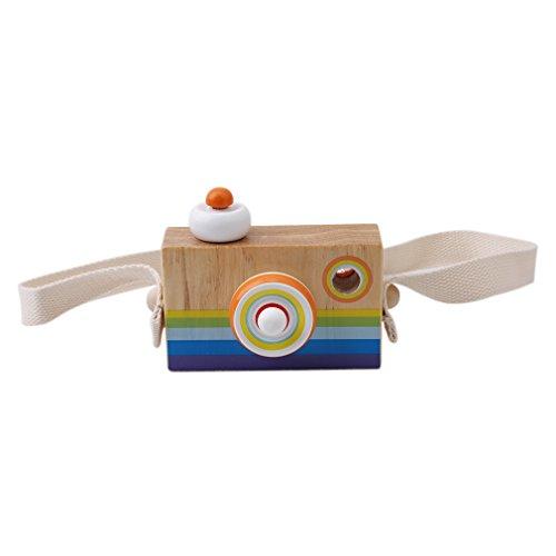 HENGSONG Couleur Bébé Drôle Caméra en Bois Jouets Cartoon SLR Kaléidoscope Mignon Multi Prisme Caméra Enfants Jouet Creative Anniversaire Cadeau de Noël Décor
