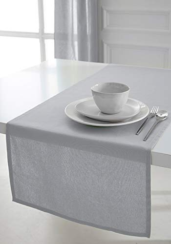 Today Chemin de Table Coton 50/150 Zinc Coton Gris 50 x 150 cm