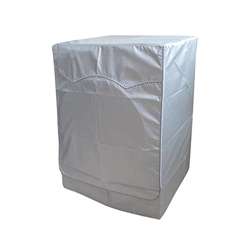 """Price comparison product image QLLY Washer / Dryer Cover for Front-loading Machine - Waterproof,  Dustproof,  Sun-Proof,  W27""""D33""""H39""""Suitable for most Washers / Dryers on US and Canadian market (Basic Silver)"""