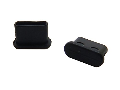 テクノベインズ USB3.1Type-C 機器側コネクタ用キャップ (黒) つまみなし 6個/パック USB31CACK-B0