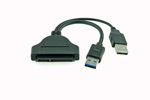 Alda PQ USB to SATA Adaptador USB to SATA/Cable para un Disco Duro Interno SSD/HDD de 2,5' a través de una conexión Externa al Ordenador o portátil en Negro