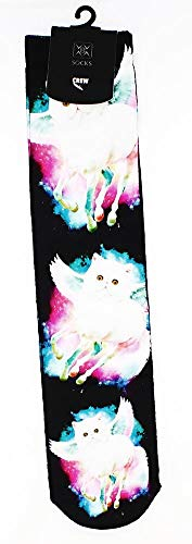 Bioworld Unicorn Cat Photo Print Crew Socks