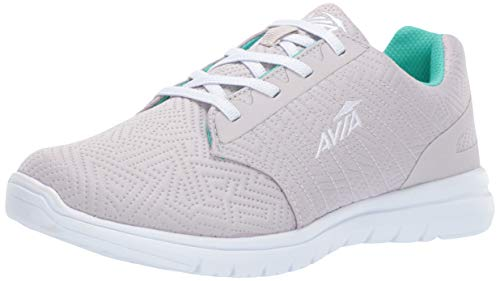 Avia Women's Avi-Solstice Sneaker, Micro chip/Spearmint/White, 11 Medium US