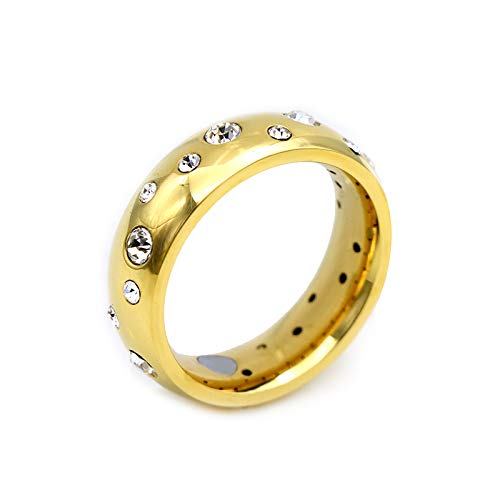 Magnetring 24k hartvergoldet Reif Design Sternenhimmel Svarovski Diamant Brilliantschliff Brazil Starry Sky TRINITIX Stern Collection Energetix 4you 9010 Gold 16 bis 21