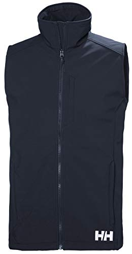 Helly Hansen Paramount Hydrofuge et Coupe-Vent et Respirant Gilet Softshell Homme, Navy, FR : M (Taille Fabricant : M)