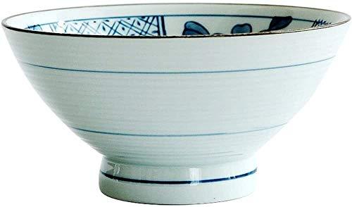 XUEXIU New Wave Soup Plate Riz Céramique dîner Soupe de Nouilles Maison Cuisine Bucket Bowl Perfect for Catering and Home (Color : D)