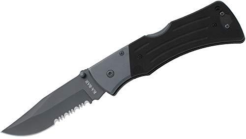 Ka-Bar Mule Folder Knife with Serrated Edge Blade Black, Small