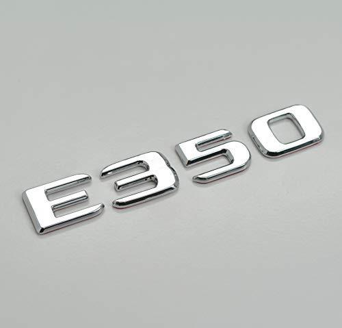 FENSHAN E350 Emblem für Heckklappe, silberfarben, Chrom, kompatibel mit E-Klasse W210 W211 W212
