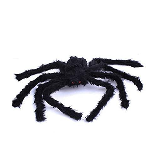 XIANGE100-SHOP Súper Gran araña de Felpa Hecha de Alambre y Peluche Negro y Estilo Multicolor para la Fiesta o Decoraciones de Halloween 1pcs (Color : Approx 50cm)