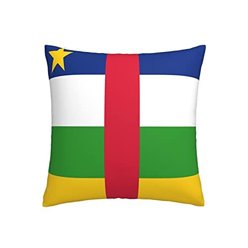Kissenbezug mit Flagge der Zentralafrikanischen Republik, quadratisch, dekorativer Kissenbezug für Sofa, Couch, Zuhause, Schlafzimmer, Indoor Outdoor, niedlicher Kissenbezug 45,7 x 45,7 cm