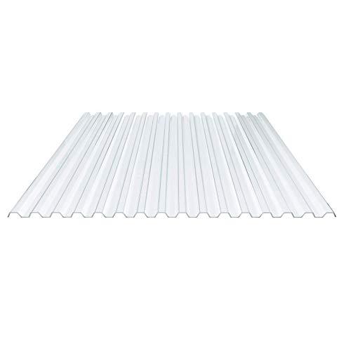 Lichtplatte | Spundwandplatte | Profil 70/18 | Material PVC | Breite 1095 mm | Stärke 1,2 mm | Farbe Klargrünlich