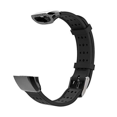 Deportes de silicona correa de muñeca for Huawei Band 2 Pro B19 B29 pulsera de la pulsera for Huawei Band 2 Pro Watch Band for el B19 B29#568 (Color : Black)