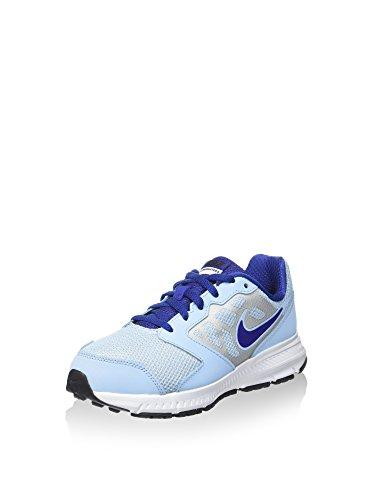 Nike Downshifter 6 (GS/PS), Scarpe da Corsa Unisex-Kids, Blu Chiaro/Argentato/Blu, 36 EU