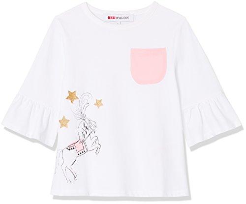 RED WAGON Camiseta con Bolsillo para Niña, Blanco (Weiß), 6 años