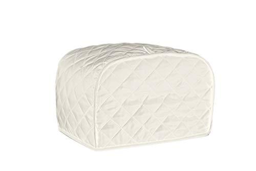 MIMORE Four Slice Toaster-Abdeckung, Staub- und Fingerabdruckschutz, maschinenwaschbar (12 x 11 x 8,5 cm, Beige)